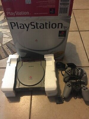 SONY PlayStation SCPH-1001 Console COMPLETE IN BOX! PSX PS1 Dual Shock TESTED!