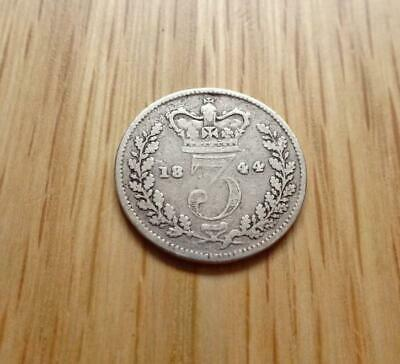 Queen Victoria Silver Threepence 1844 3D Great Britain Uk
