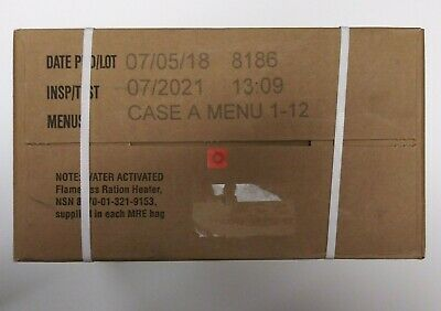 Military MRE 07/2021 Inspection Date Case A Meals Ready To Eat (((Nice)))