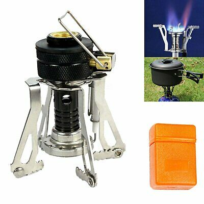 Portable Camping Gas Stove Backpacking Picnic Butane Propane Canister Burner TO
