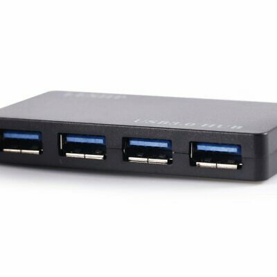 LESHP Four-Ports Ultra-thin Design USB 3.0 HUB Plug and Play Easy to Carry