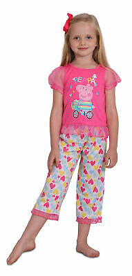 Peppa Pig Girls' Toddler 2 Piece Heart Print Pajama Set