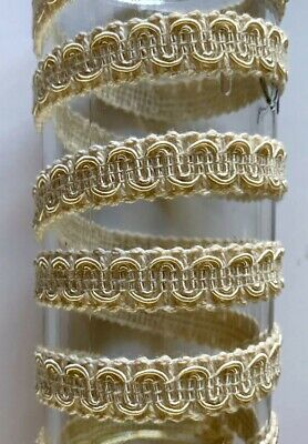 $1 By The Yard Cream Tan Ivory GIMP Braid Braided Sewing Upholstery Trim Crafts