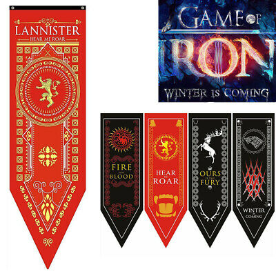 Game of Thrones Stark Targaryen House Banner Flag Wall Hanging Home Decoration