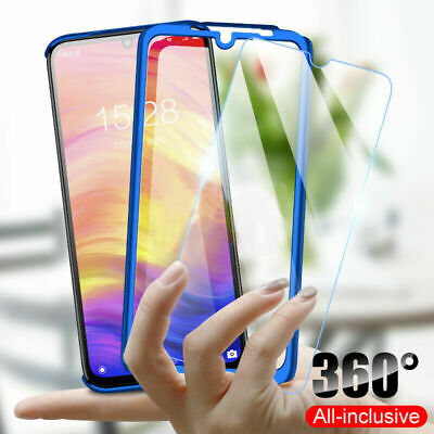 For Samsung Galaxy A50 A30 Full Protector Case PC+Glass Screen Protector Cover
