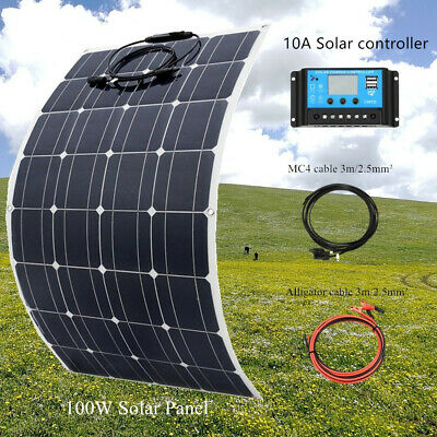 100w 16V flexible Solar Panel Solar Cells Kit+10A controller for Boat Home Yacht