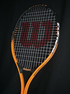 Wilson Energy 110 Titanium Soft Shock 3 Tennis Racquet Racket Orange/Blk 4 3/8