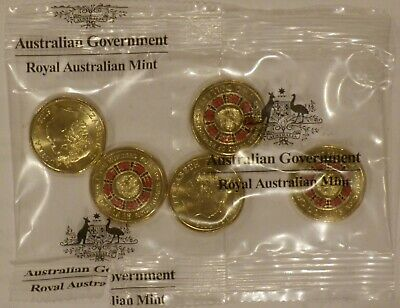 2019 $2 Lest We Forget Centenary of Repatriation RED coin RAM sachet of 5 UNC