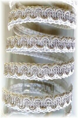$1 By The Yard White GIMP Braid Braided Sewing Upholstery Trim Crafts Finishes