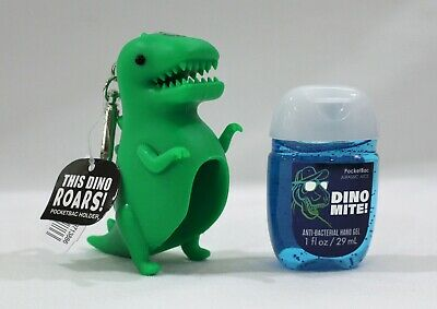 "Bath & Body Works Pocketbac Holder Roaring Dinosaur & Sanitizer ""Dino Mite"""