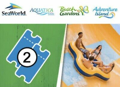 SEAWORLD ORLANDO & BUSCH GARDENS Two Park 2 VISIT Tickets  PROMO SAVINGS + MEAL