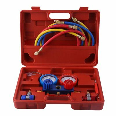R-134A Air Conditioning AC Diagnostic A/C Manifold Gauge Tool Set Refrigeration
