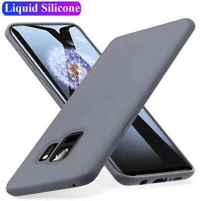 Thin Liquid Silicone Rubber Case for Samsung Galaxy S8 S9 S10 Plus S10 Gel Cover