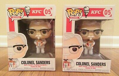 Lot of 2 - Funko Pop! Ad Icons KFC #05 Colonel Sanders Brand New NIB Free S&H