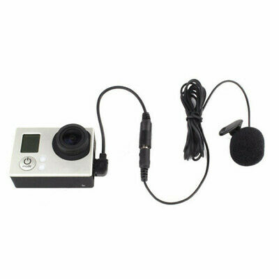 3.5mm External Clip Microphone Mic + Adapter Cable for GoPro Hero 3 3+ 4 Camera