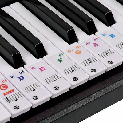 49, 54 ,61or 88-KEY Colorful Music Keyboard Piano Stickers for speeds memory Hot
