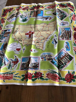 Vintage Souvenir Tablecloth.nsw Unused.
