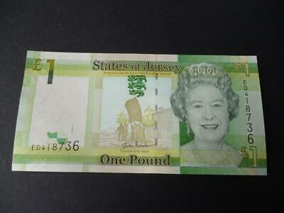 A States Of Jersey One Pound Note In Un-Circulated Mint Condition  Jersey £1.