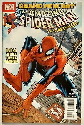 Amazing Spiderman #546 (Feb. 08') VF+ (8.5) 1st App. Freak/ Brand New Day Begins