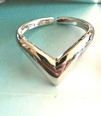 .925 All Sterling Silver *V* Toe Ring 2 Style Elegance ~ $8.49 and $9.99