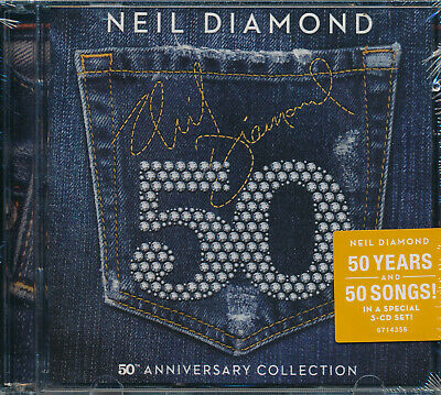 Neil Diamon 50th Anniversary Collection 50 songs 3-disc CD NEW