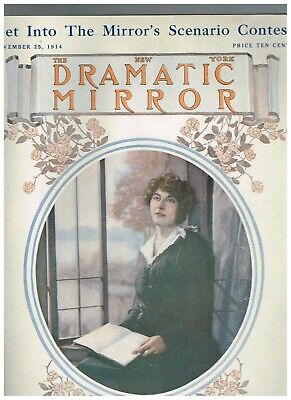 November 25, 1914 the New York Dramatic Mirror with color cover of Laura Sawyer