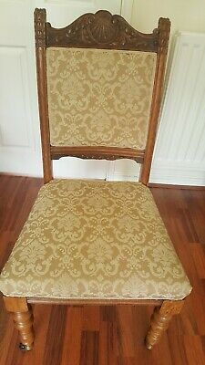 Antique Victorian Tapestry Nursing Hall Bedroom Chair