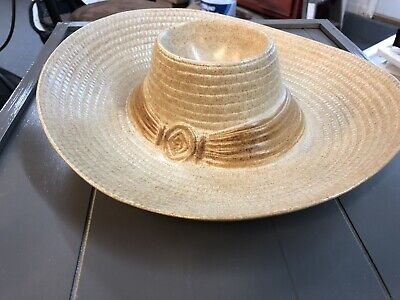 Mexican Sombrero Chip Dip Platter Giant Ceramic Serving Dish By