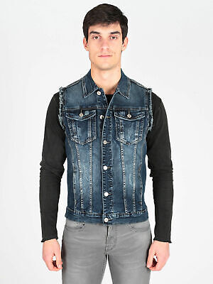purchase cheap ab477 9160d GILET DI JEANS da uomo Uomo 00040792