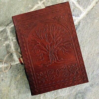 Magical Vintage Journal Large Oak Tree Life Leather Blank Book 200 Pages Diary