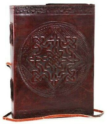 Magical Vintage Journal Large Celtic Knot Leather Blank Book 200 Pages Diary
