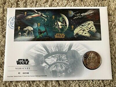 Star Wars Vehicles Stamps Royal Mint Commemorative Set Limited Edition