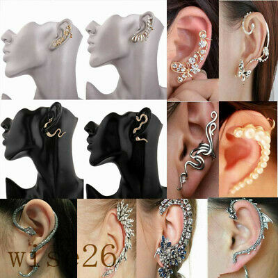 8e4a49959 Fashion Jewelry Crystal Clip Ear Cuff Stud Women's Punk Wrap Cartilage  Earring