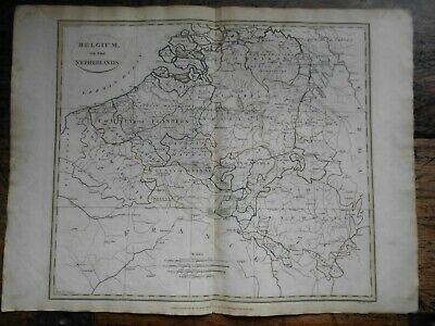 ORIGINAL 1799 Clement Cruttwell Map of Belgium or the Netherlands
