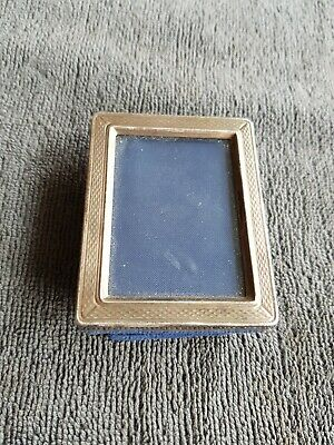 Vintage Miniature STERLING SILVER PICTURE Photo FRAME Rectangular HALLMARKED