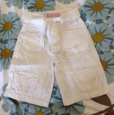 Urban Rose Girl's White Summer Trousers Age 2-3 Years 2-3 Ans 2-3 Anos