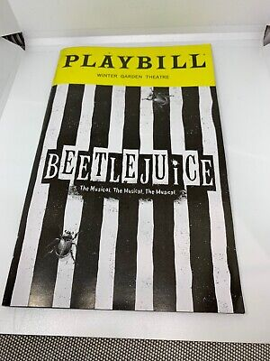 Beetlejuice the Musical Playbill Broadway Tony Nominee Including BEST MUSICAL!!!