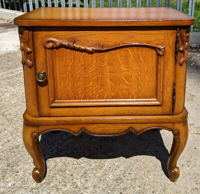 Amazing French  Antique Bedside Table Cupboard Cabinet in Louis XVI style
