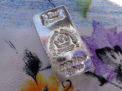 5 oz. Monarch Precious Metals poured ingot .999 fine silver