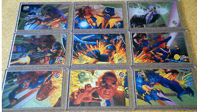 1994 X-MEN ULTRA MARVEL TEAM PORTRAIT COMPLETE  9 CARD SUBSET Ltd Edition