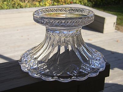 Antique EAPG Imperial Crystal Glass PUNCH BOWL STAND Base<>THREE in ONE Diamond