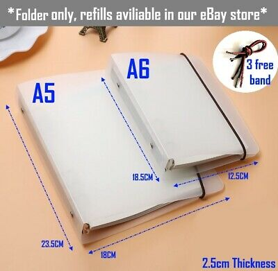PP Cover for Notebook File Folder6Holes Ring Binders SpiralsA4 A5 A7Refillabl VP Business, Office & Industrial