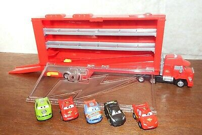 Mack Transporter Disney Cars Micro Drifters bundle playset figure toy 82 80 95 2