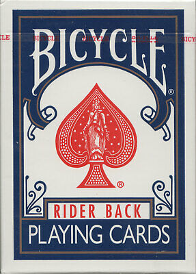 Bicycle Rider Back Playing Cards - Blue - Blue Stamp - Made In Ohio