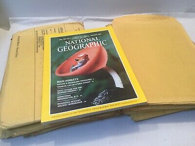 National Geographic -  12 Copies 1983 Full Year
