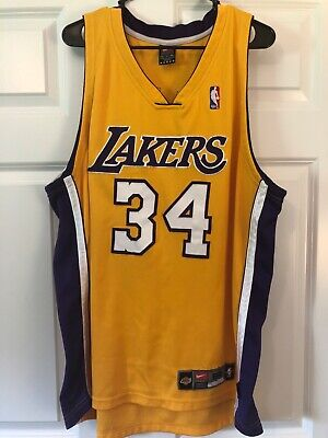 1e4d092975a Shaquille O'Neal Los Angeles Lakers Nike Dri-Fit Authentic Jersey