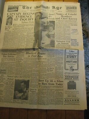 The Age Newspaper - May 13 1964 (Complete Paper) Fascinating Articles - Original
