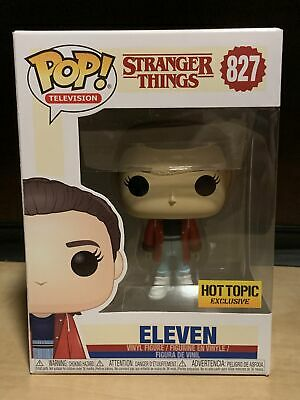 Funko Pop Eleven Slicker #827 Stranger Things HT Exclusive w/ Protector