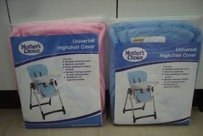 New High Chair Highchair Cover Universal Fit Mothers Choice Brand Blue Or Pink