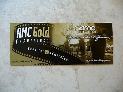 AMC Theatres Gold Experience Movie Ticket for 1 Admission